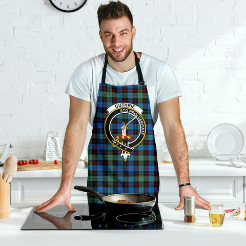 Image of Guthrie Ancient Tartan Clan Crest Apron HJ4