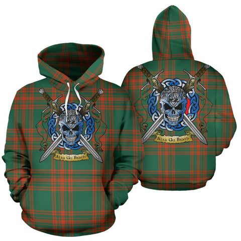 Menzies Green Ancient Tartan Hoodie Celtic Scottish Warrior A79 | Over 500 Tartans | Clothing | Apaprel