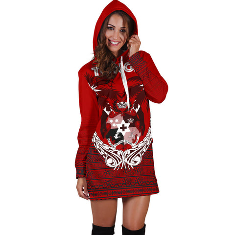 Tonga Polynesian Coconut Women's Hoodie Dress A02 |Women's Clothing| 1sttheworld