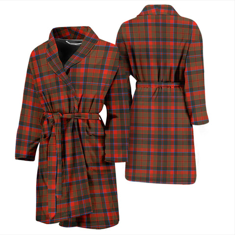 Cumming Hunting Weathered Bathrobe - Men Tartan Plaid Bathrobe Universal Fit