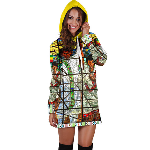 Ethiopia Hoodie Dress, Ethiopian Orthodox Flag A10