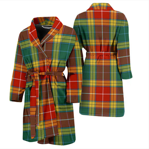 Buchanan Old Sett Bathrobe - Men Tartan Plaid Bathrobe Universal Fit