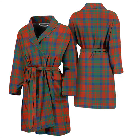 Matheson Ancient Bathrobe - Men Tartan Plaid Bathrobe Universal Fit