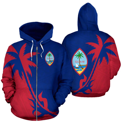 Guam Coconut Tree Zip Up Hoodie K4
