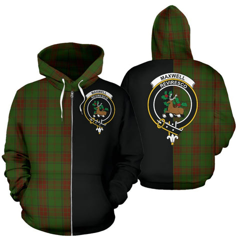 (Custom your text) Maxwell Hunting Tartan Hoodie Half Of Me TH8