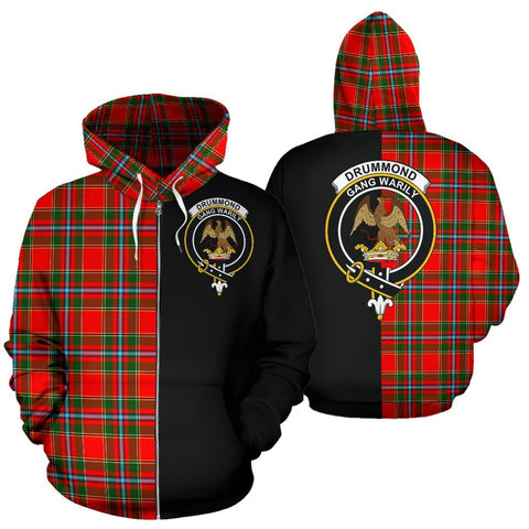 (Custom your text) Drummond of Perth Tartan Hoodie Half Of Me TH8