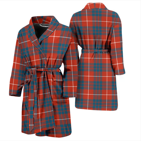 Hamilton Ancient Bathrobe - Men Tartan Plaid Bathrobe Universal Fit