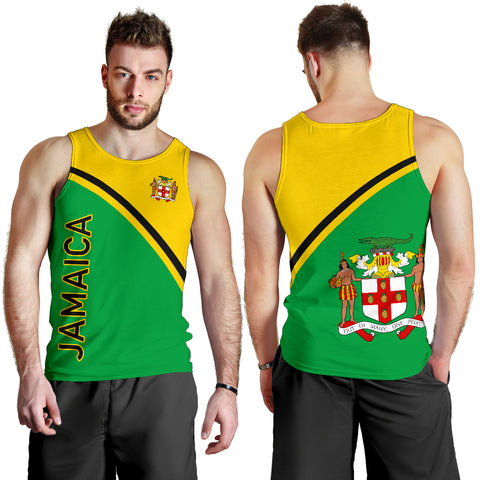 Image of Jamaica Men's Tank Top - Curve Version - BN04