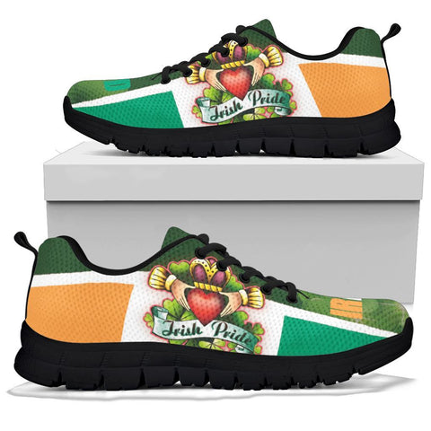 Image of Irish Pride Sneakers - Ireland Flag With Claddagh Ring - BN21
