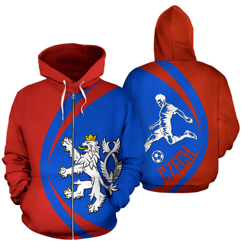 Image of Czech Sport Zip Up Hoodie - Circle Style 01 J9
