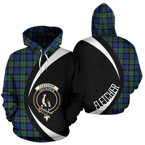 Image of Fletcher Ancient Tartan Circle Hoodie HJ4