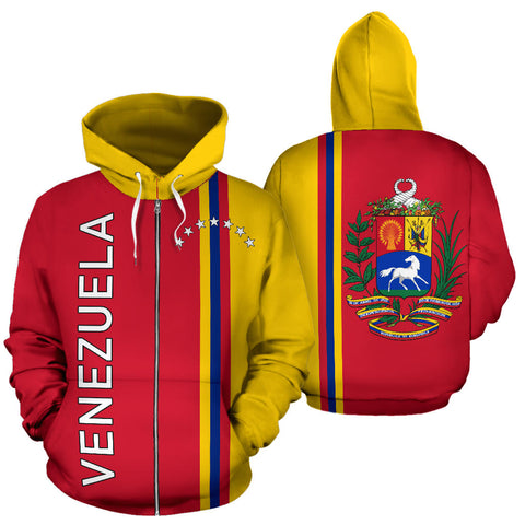 Venezuela All Over Zip-Up Hoodie - Straight 7 Stars Version - BN04