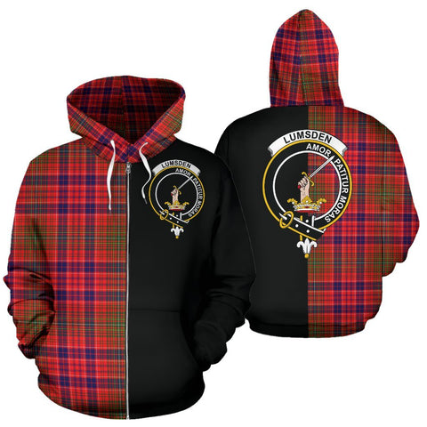 (Custom your text) Lumsden Modern Tartan Hoodie Half Of Me TH8