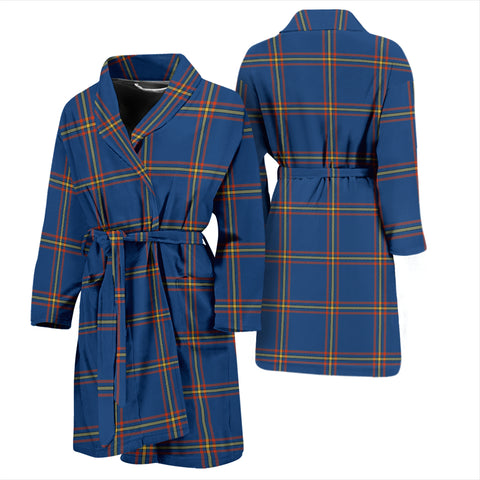 Maclaine Of Loch Buie Hunting Ancient Bathrobe - Men Tartan Plaid Bathrobe Universal Fit