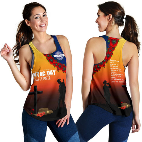Image of Australia Anzac Day Women's Racerback Tank - Lest We Forget A31
