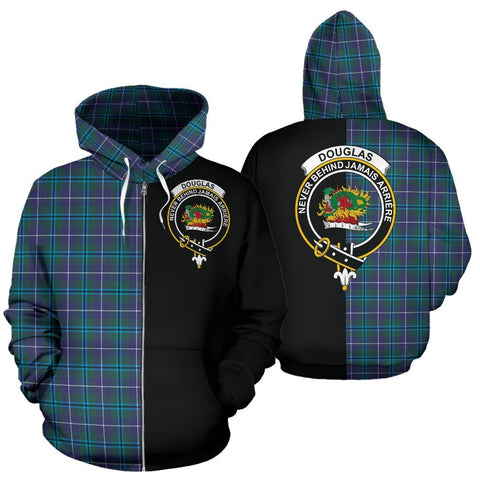 (Custom your text) Douglas Modern Tartan Hoodie Half Of Me TH8