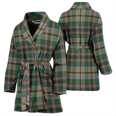 Craig Ancient Bathrobe - Women Tartan Plaid Bathrobe Universal Fit