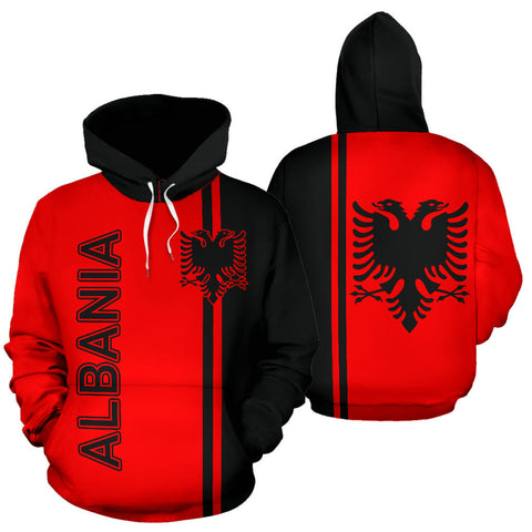 Albania All Over Hoodie - Straight Version - BN04