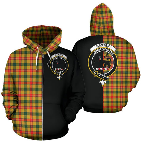 (Custom your text) Baxter Tartan Hoodie Half Of Me TH8