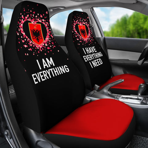 Albania Car Seat Covers Couple Valentine Everthing I Need (Set of Two) | 1sttheworld