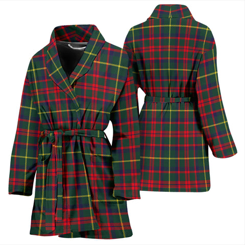 Mackintosh Hunting Modern Bathrobe - Women Tartan Plaid Bathrobe Universal Fit