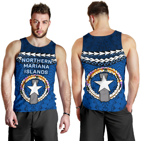 Northern Mariana Islands Polynesian Men Tank Top - Vibes Version K8
