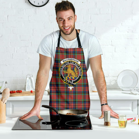 Image of MacPherson Ancient Tartan Clan Crest Apron HJ4