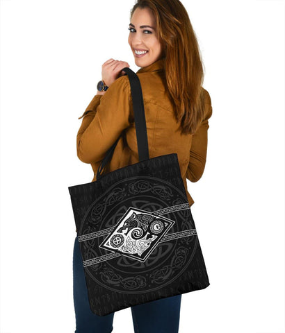 Vikings Tote Bag The Wolves Skoll And Hati A31
