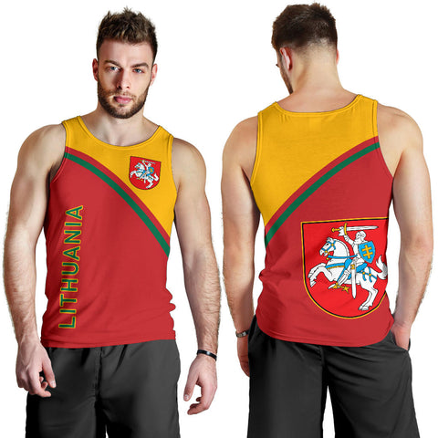 Image of Lithuania Men's Tank Top - Curve Version