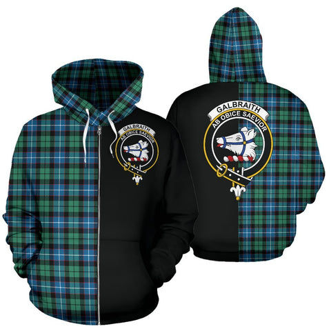 Image of (Custom your text) Galbraith Ancient Tartan Hoodie Half Of Me TH8