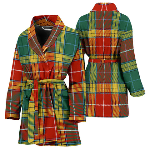 Buchanan Old Sett Bathrobe - Women Tartan Plaid Bathrobe Universal Fit