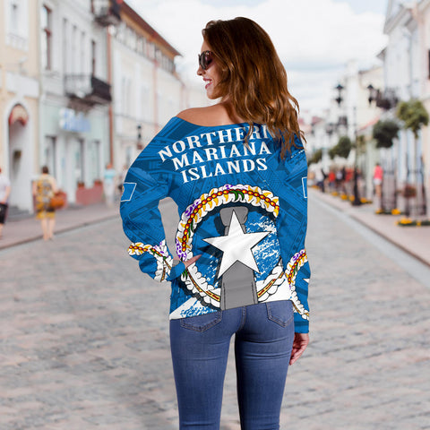 Northern Mariana Islands Special Off Shoulder Sweater A7
