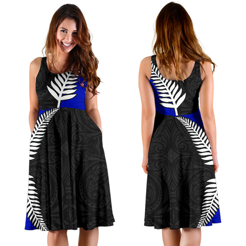 New Zealand Midi Dress Silver Fern