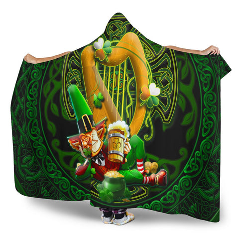 Irish Leprechaun Hooded Blanket - Ireland's Trickster Fairies - BN21