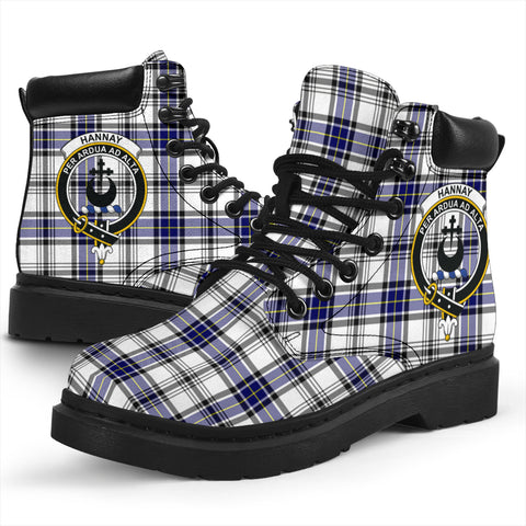 Image of Hannay Modern Tartan Clan Crest All-Season Boots HJ4