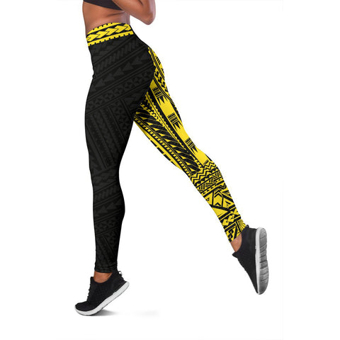 Polynesian Leggings Rising Yellow A62