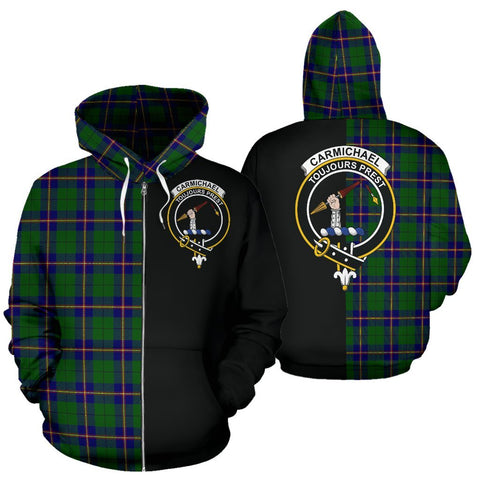 (Custom your text) Carmichael Modern Tartan Hoodie Half Of Me TH8