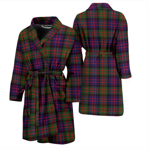 Image of Macdonald Modern Bathrobe - Men Tartan Plaid Bathrobe Universal Fit