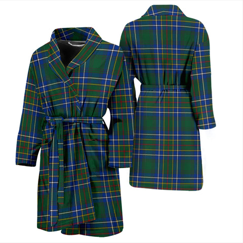 Cockburn Ancient Bathrobe - Men Tartan Plaid Bathrobe Universal Fit