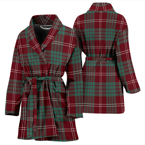 Crawford Modern Bathrobe - Women Tartan Plaid Bathrobe Universal Fit