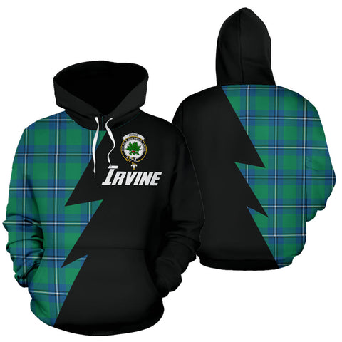 Tartan All Over Hoodie - Irvine Clans Badge - BN
