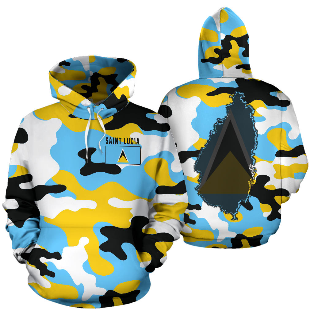 competitive price 39a3f 91d19 Saint Lucia Hoodie Camouflage Map Th5
