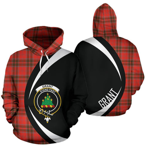 Image of Grant Weathered Tartan Circle Hoodie HJ4