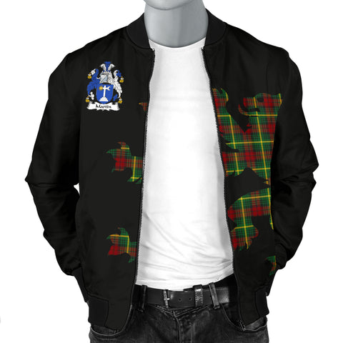MARTIN Tartan Lion And Thistle Bomber Jacket for Men TH8