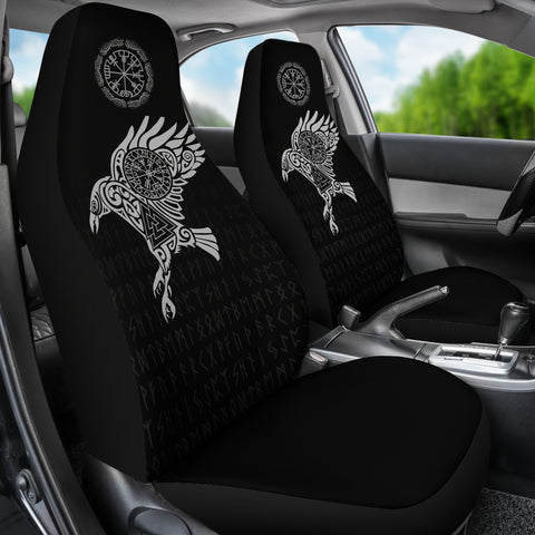Vikings Car Seat Covers - The Raven of Odin Tattoo A7