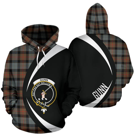 Image of Gunn Weathered Tartan Circle Hoodie HJ4