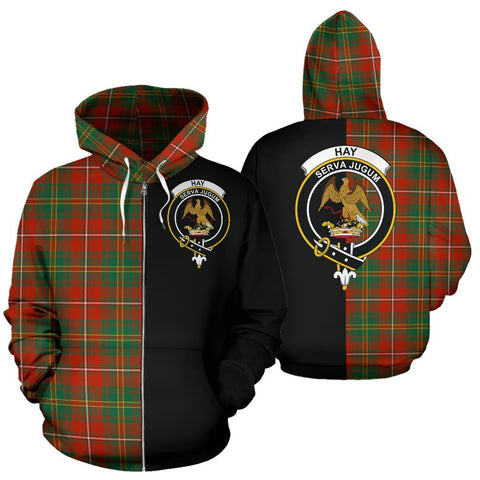 (Custom your text) Hay Ancient Tartan Hoodie Half Of Me TH8