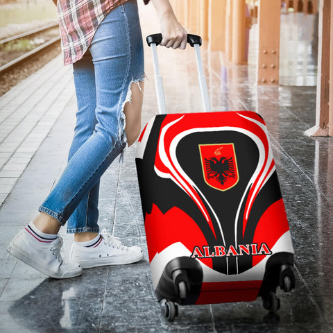 Albania Flag Luggage Covers Cannon Style