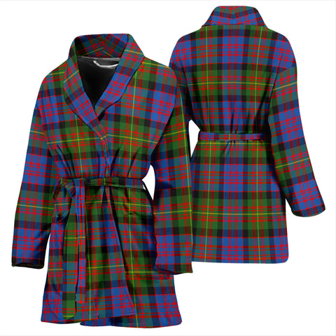 Image of Carnegie Ancient Bathrobe - Women Tartan Plaid Bathrobe Universal Fit