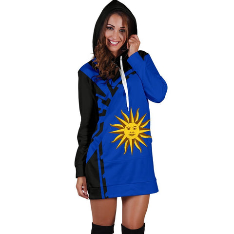 Image of Uruguay Hoodie Dress Premium Style - Front